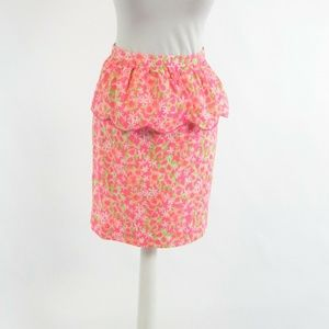 Lilly Pulitzer pink cotton pencil skirt 2